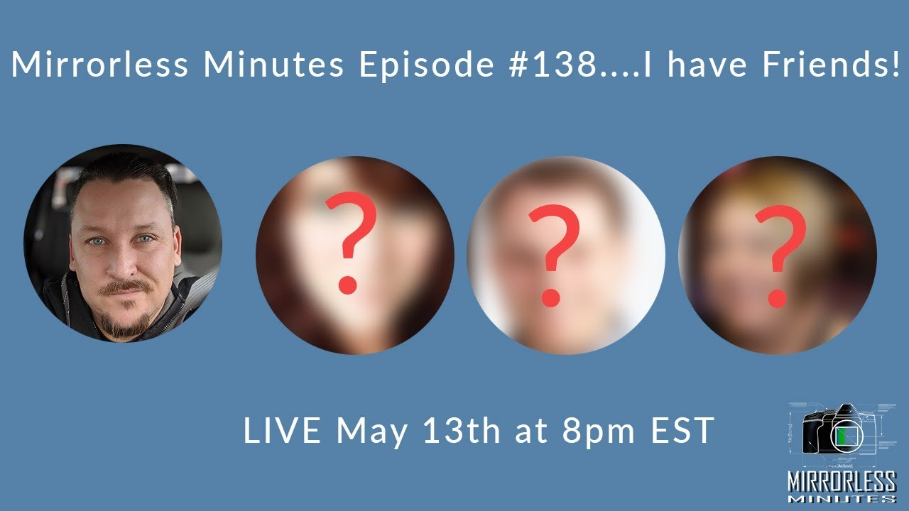 """Mirrorless Minutes Episode #138....Say """"Hi"""" to my Friends!"""