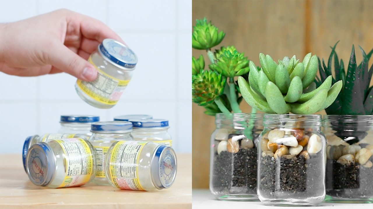 9 Ways To Reuse Empty Baby Food Jars Youtube