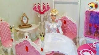 Мебель для куклы: Спальня принцессы Gloria  / Princess bedroom Gloria doll furniture(Набор кукольной мебели