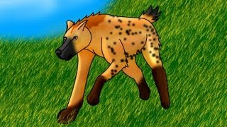 How I draw a Hyena (request)