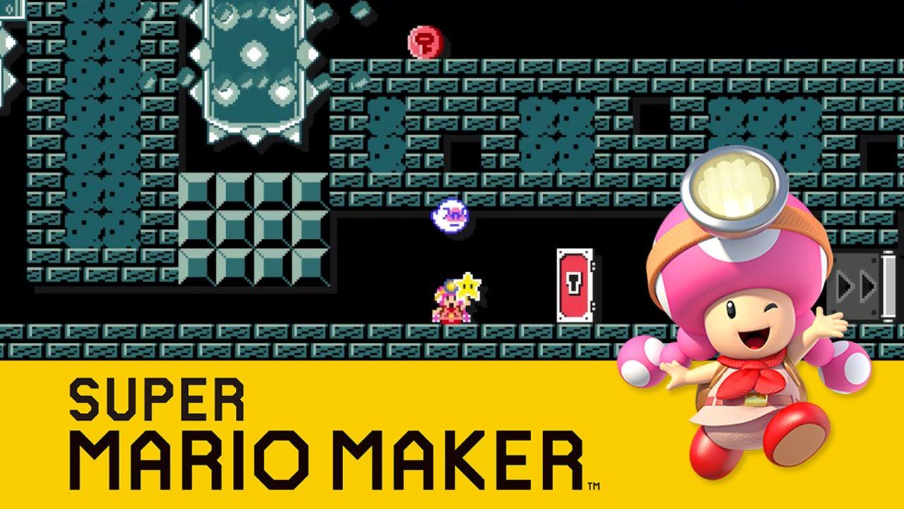 Super Mario Maker : Toadette: Treasure Tracker - YouTube