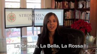 Italian Classes in Los Angeles - Private Tutoring