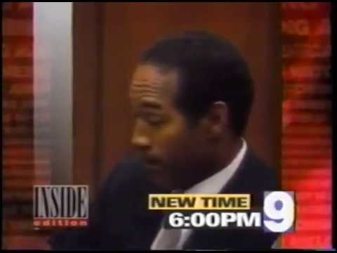 (1994) Inside Edition Promo - Johnny Cochran joins OJ defense