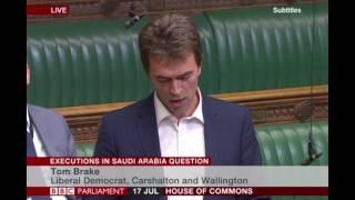 Tom Brake speaks out on Saudi Arabia executions