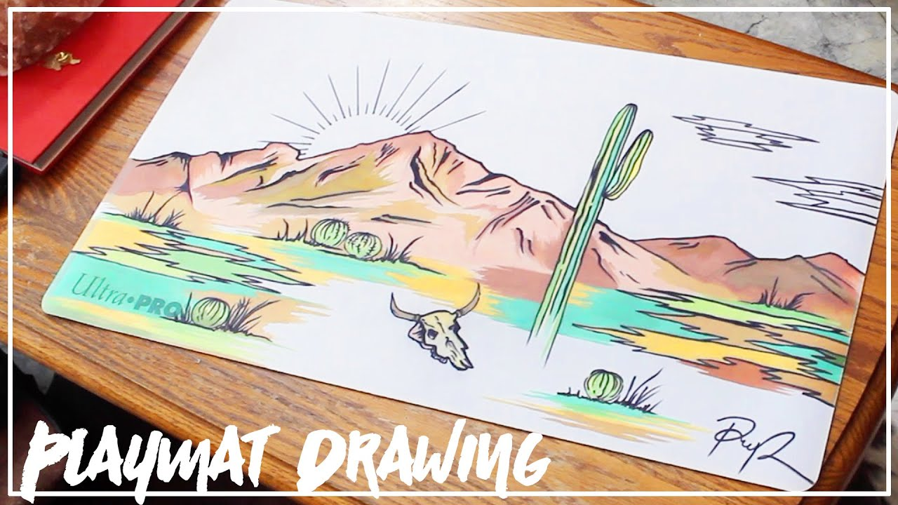 It's just an image of Geeky Desert Scene Drawing