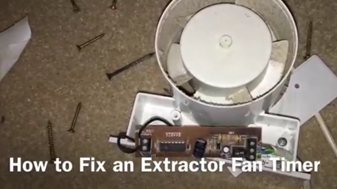 light fan wiring diagram how to fix an extractor    fan    timer youtube  how to fix an extractor    fan    timer youtube