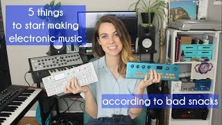 5 things to start making electronic music at home