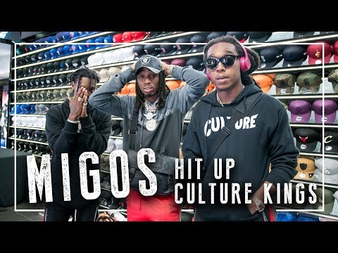 Migos run through Culture Kings Brisbane - Quavo, Offset & Takeoff spend big