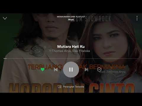 Free Download Album Baru Thomas Arya Feat Elsa Pitaloka - Mutiara Hati Ku Mp3 dan Mp4