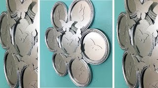 Dollar Tree / 🍃🦋 DIY Round Butterflies Wall Mirror 🦋🍃