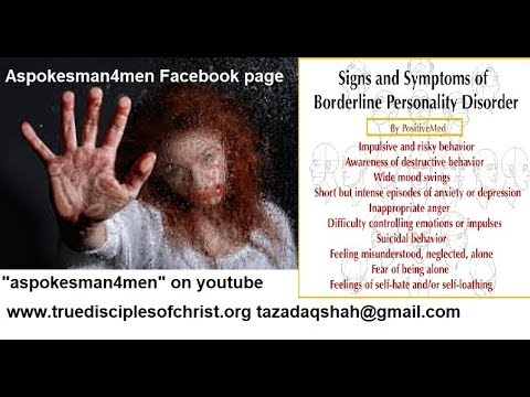 A Video spotting the Signs of Borderline Personality Disorder B D P I hate  you don't leave me!