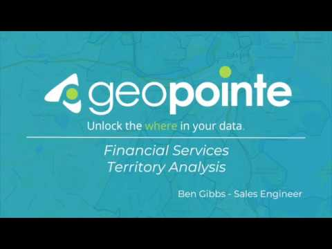 Geopointers - Financial Services Territory Analysis