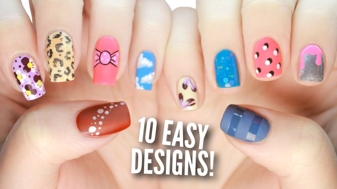 10 Easy Nail Art Designs For Beginners: The Ultimate Guide #3! - YouTube
