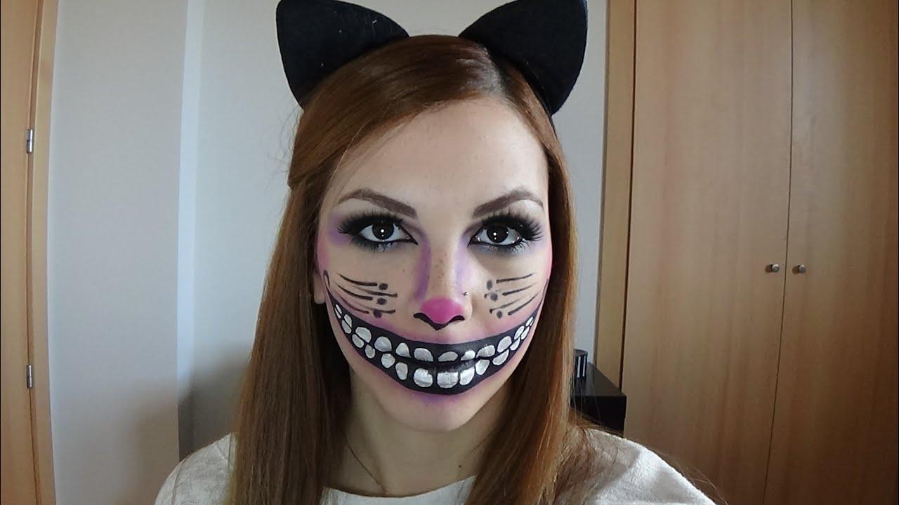 maquillaje gato sonriente