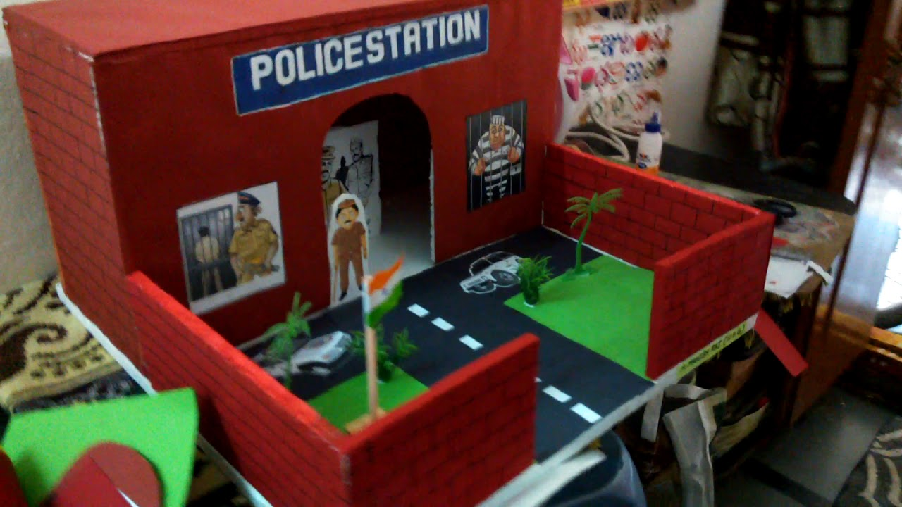 Police station model for school project