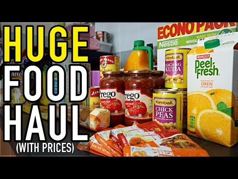 HUGE Malaysian Food Shopping Haul (WITH PRICES)