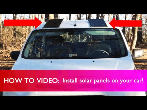 How to Install Solar Panels On Your Car!