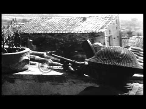 British Eighth Army soldiers during battle of Salerno, in Italy. HD Stock Footage