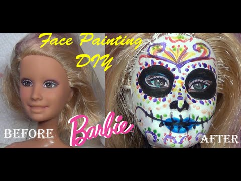 Day Of The Dead Barbie Face Painting Skeleton Carmen The Book Of
