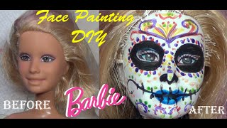 Cinco de Mayo Barbie Face Painting Skeleton Carmen The Book Of Life Movie and Monster High