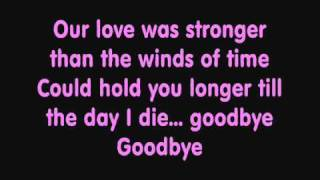 Kate Ryan - Goodbye (Lyrics)