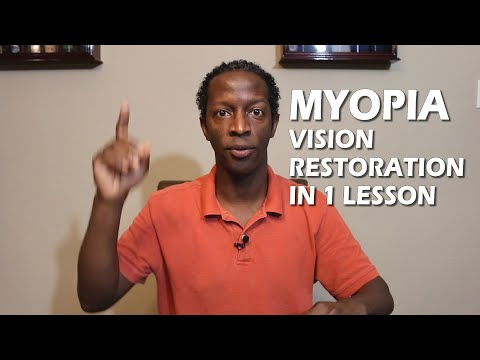 Restoring Your Vision Naturally With One Lesson