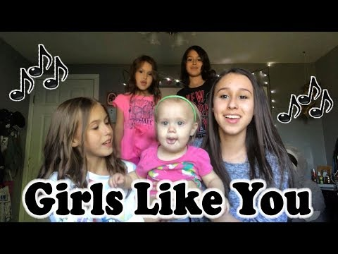 Girls Like You - Maroon 5 - Cover by Sisters Presley Noelle & Brooklyn Noelle & Li'l Sisters