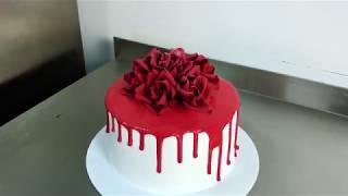 Цветные шоколадные подтеки для торта