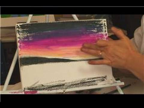 Oil Pastel Techniques Using Pastels On Canvas Youtube