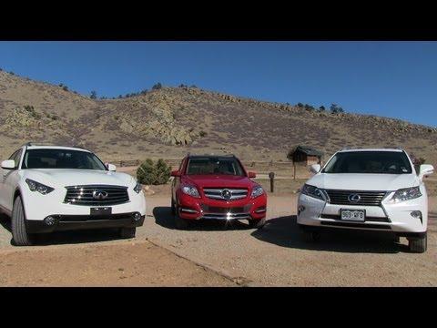 2013 Lexus RX 350 vs Mercedes-Benz GLK vs Infiniti FX37 0-60 $53K Mashup Review