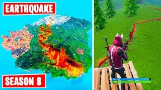 New Lava cracks in Fortnite! Earthquake event Season 8