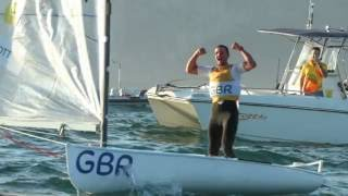 Reaction from Giles Scott on winning the Finn class Gold in Rio with a day to spare