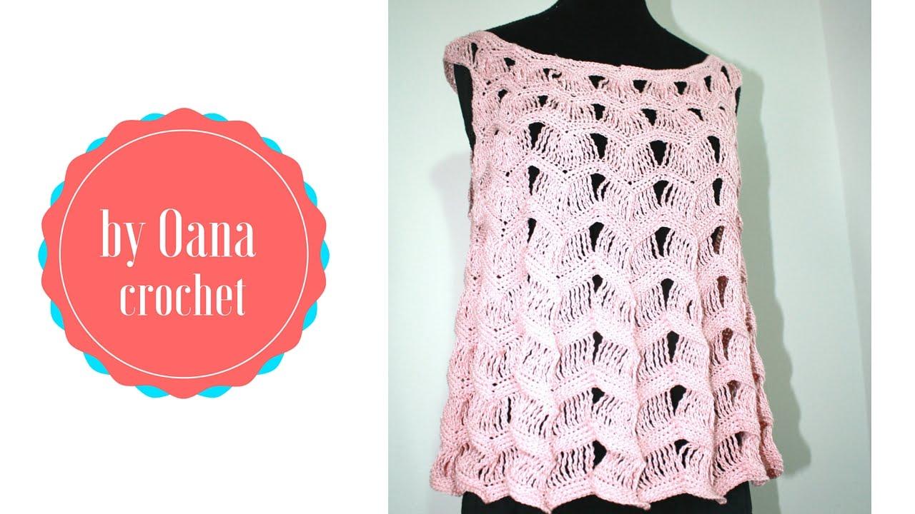 Crochet summer top youtube for Top all uncinetto schemi