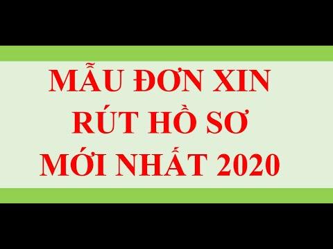 HƯỚNG DẪN VIẾT ĐƠN XIN RÚT HỒ SƠ MỚI NHẤT 2020