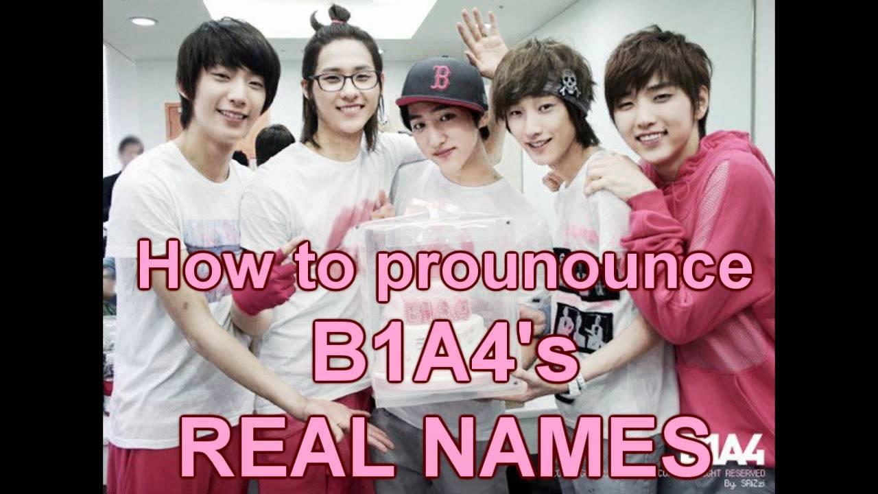 How to pronounce B1A4 members' names - YouTube B1a4 Names