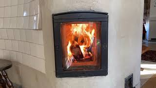 Masonry Heater Smokeless Fire From Outside the House