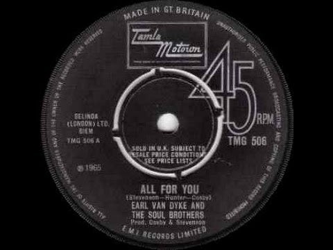 Earl Van Dyke And The Soul Brothers - All For You