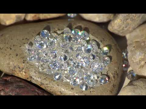 1,30 mm Moissanit Moissanite Diament Brylant małe drobne video