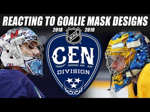 Reacting to Goalie Mask Designs from the Central Division(2018-19)