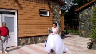 свадьба-ВаСИлиса несет фату невесты )