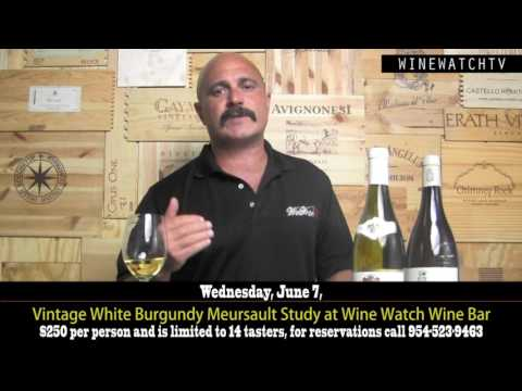 Vintage White Burgundy Meursault Study at Wine Watch Wine Bar - click image for video