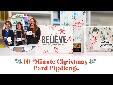 Who Made The Best Handmade Christmas Card In 10 Minutes? | Scrapbook.com Exclusive