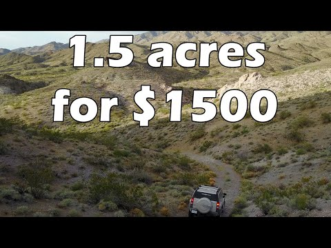 1 Acre Of Land For Sale Cheap, Lake Mead Arizona $1,500 Lake View Off Grid! (EP. 3)