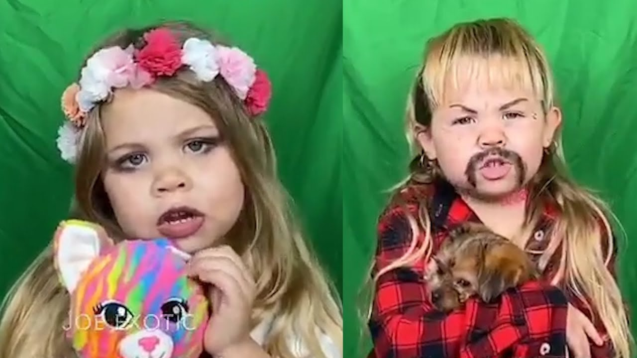 Local Four Year Old Goes Viral After Making Tiger King Parody Portraying Joe Exotic And Carole Baski Youtube
