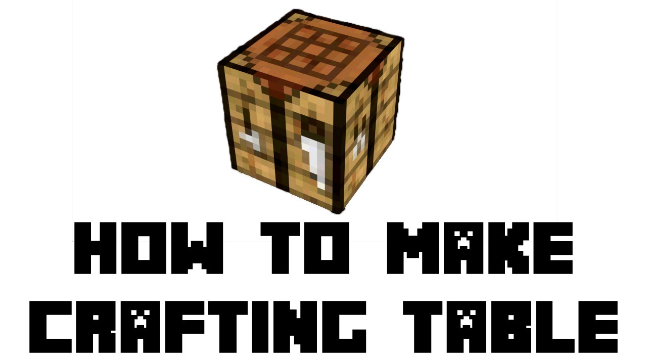 Minecraft survival how to make crafting table youtube for How to draw a crafting table