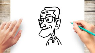 How to Draw Grandpa Step by Step