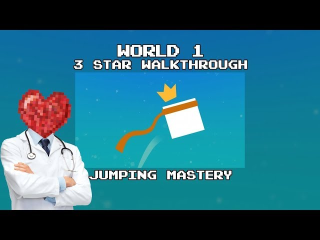 Almost There: The Platformer - 3 Star Walkthrough (World 1) Jumping Mastery