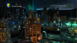 Lego Batman 2: DC Super Heroes free-roam gameplay