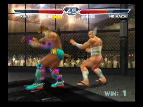 Tekken 4 King Vs Heihachi Youtube