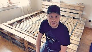 Doppelbett selber bauen (aus Europaletten)